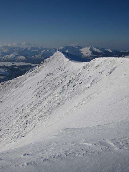 Gategill Fell Top from Blencathra's summit