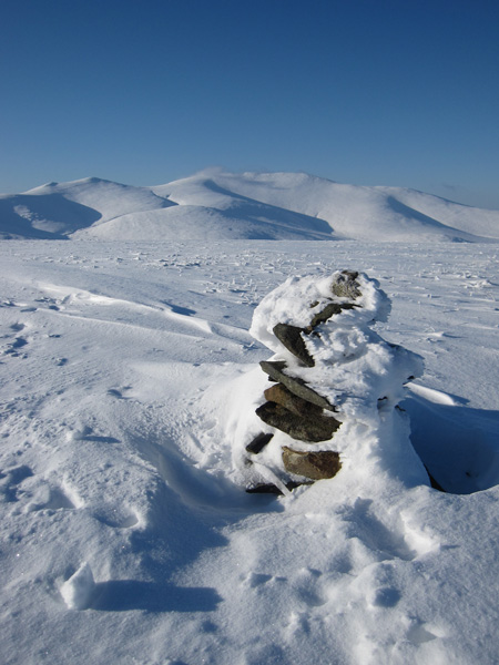 The Skiddaw fells from Mungrisdale Common's summit cairn