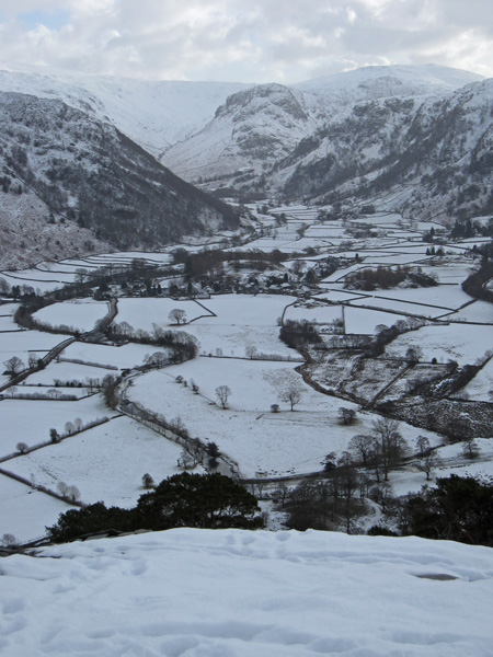 Rosthwaite with Eagle Crag beyond