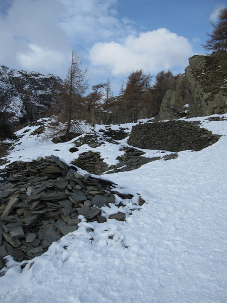 The quarry near Castle Crag's summit