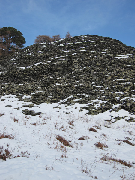 The spoil heap from below