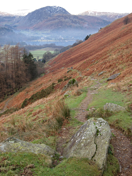The head of Ullswater from the Boredale Hause path