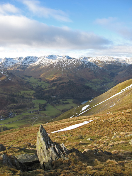 The Helvellyn fells from Round How