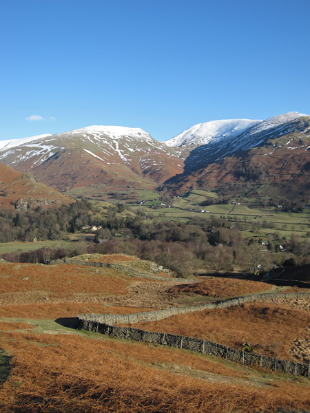 Snow on Seat Sandal, Fairfield and Great Rigg