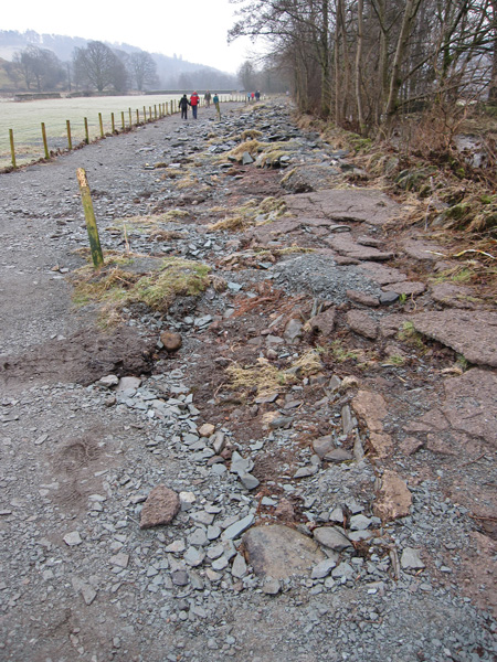 Flood damage at Elterwater