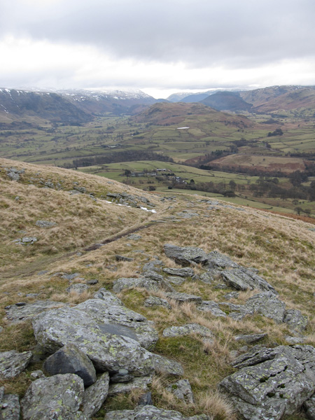 South to High Rigg from our ascent of Blease Fell