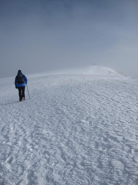 Approaching Blencathra's summit