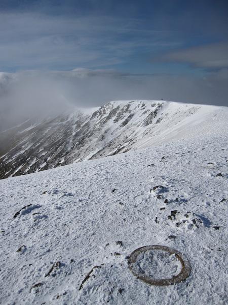 Blencathra's summit as the cloud breaks up