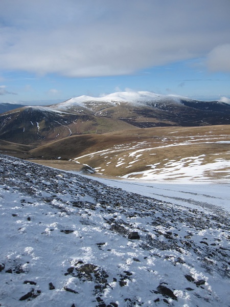 The Skiddaw fells from Blue Screes