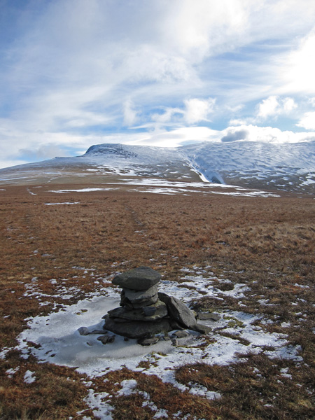 Blencathra from Mungrisdale Common's summit cairn