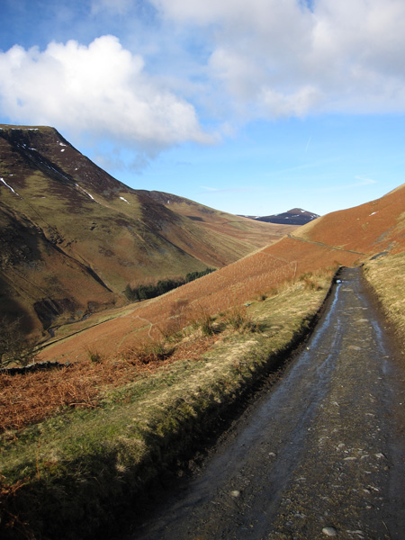 Lonscale Fell's east top (on the left) and Great Calva in the distance