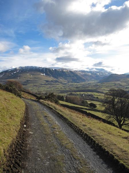 The Helvellyn ridge from near the Blencathra Centre