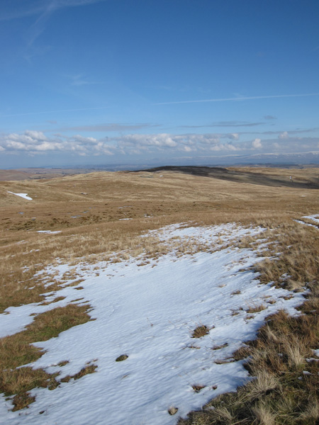 Looking back to Hare Shaw from our ascent of Selside Pike