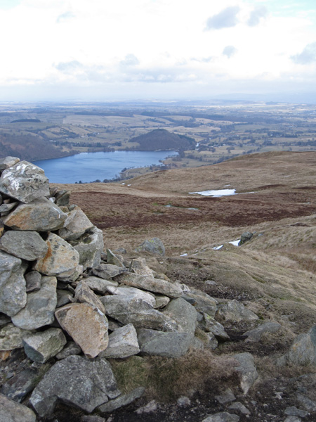 The north end of Ullswater from Arthur's Pike summit