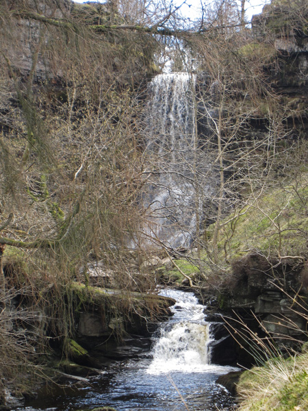 This waterfall blocked further progress and marked the point where we turned round