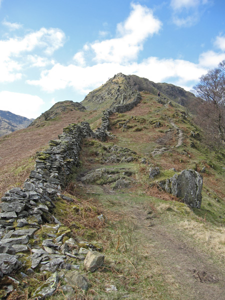 The start of the ascent of Rough Crag