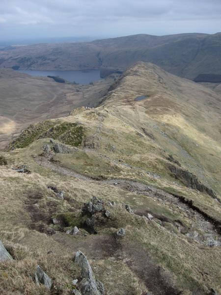 Looking back down on Rough Crag from Long Stile