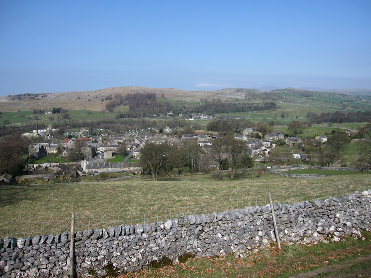 Looking down on Langcliffe