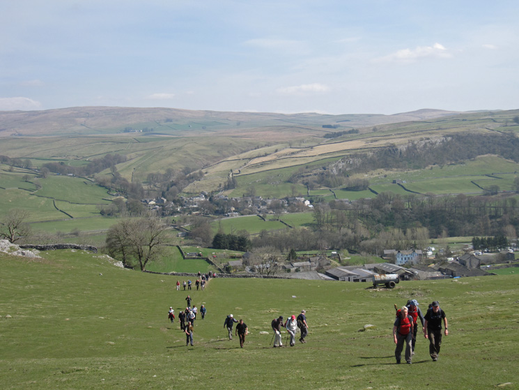 Ascending above Little Stainforth
