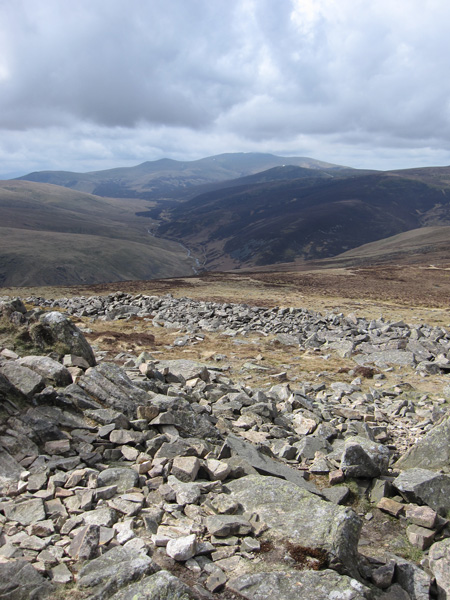 Upper Mosedale with Skiddaw in the distance