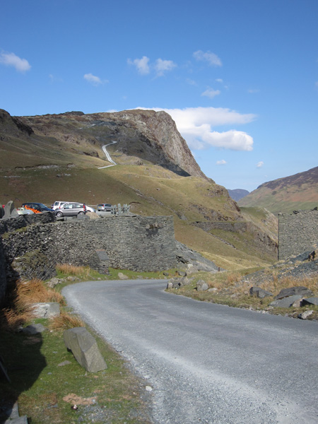 Honister Crag from Honister Hause