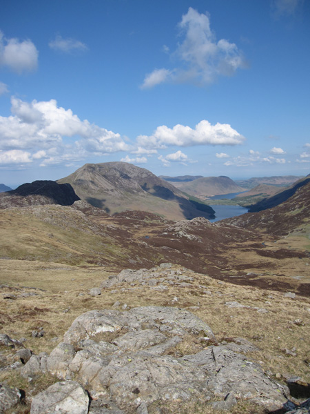 The Buttermere Valley with Haystacks in shadow on the left