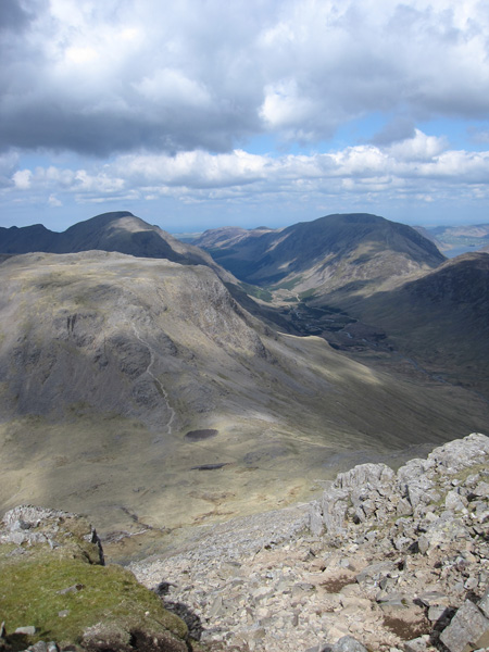 Kirk Fell from the ascent of Great Gable from Beck Head