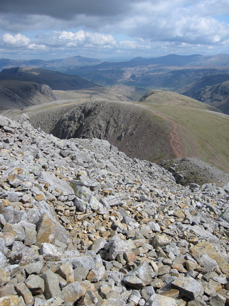 Green Gable from the descent to Windy Gap