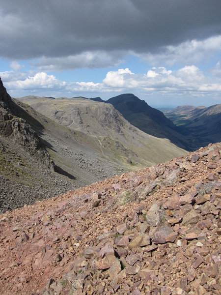 Sunshine on Kirk Fell and Pillar in the shade