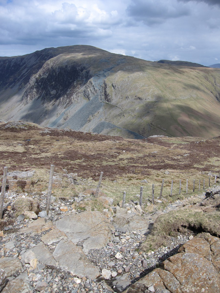 Dale Head from the descent to Honister Hause from Grey Knotts