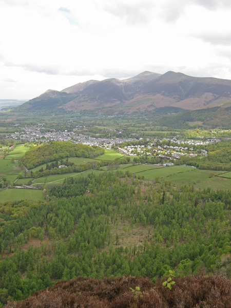 The town of Keswick below Skiddaw