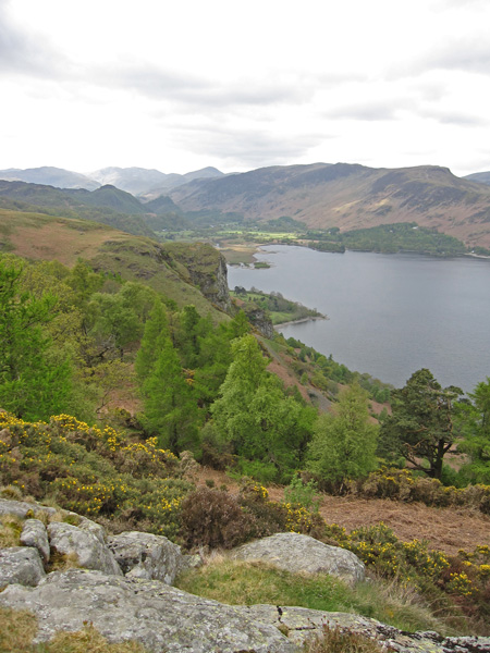 Falcon Crag to the south of Walla Crag