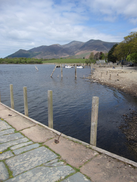 The Skiddaw fells from the landing stages