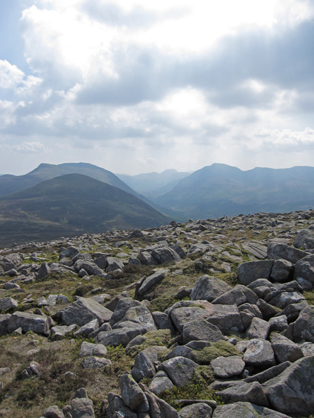 Looking up Ennerdale from Great Borne's summit