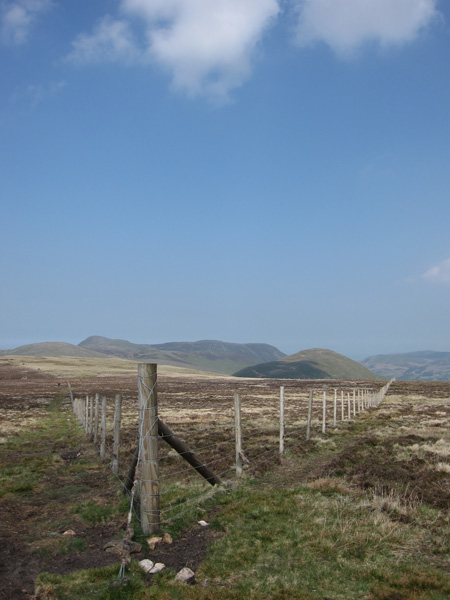 Towards the Loweswater fells from the corner of the conservation area
