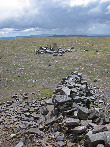 South to Great Dun Fell from Cross Fell's summit