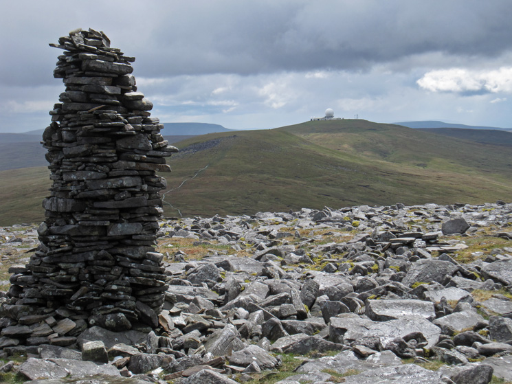Little Dun Fell and Great Dun Fell with the radar station