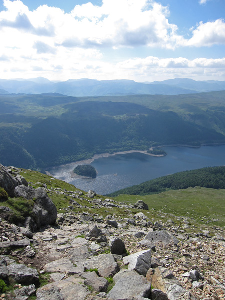 Hawes How Island and Deergarth How Island and a low Thirlmere
