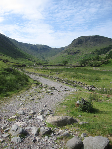 The main track out of Seathwaite