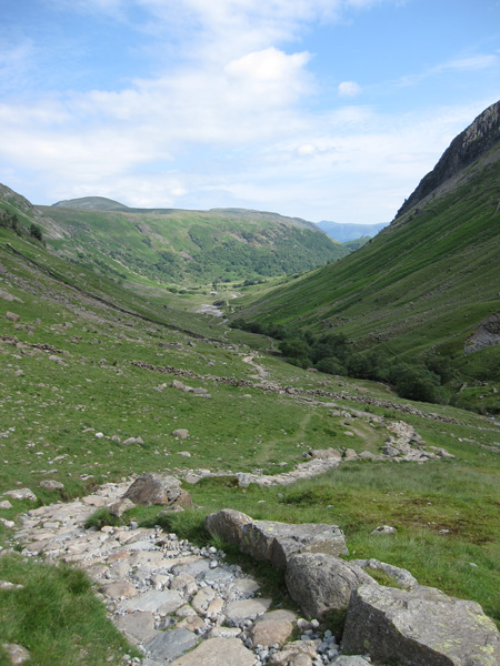Looking back down Grains Gill