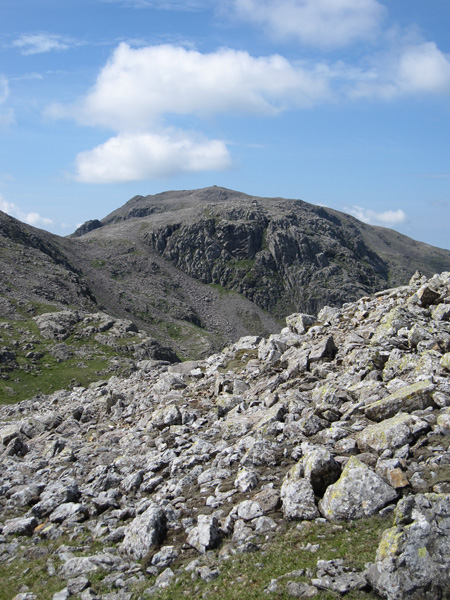 Broad Crag with the top of Scafell Pike above