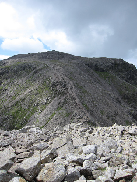 The last climb to Scafell Pike's summit