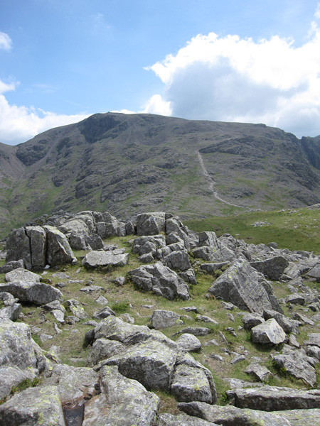 Scafell Pike from Lingmell