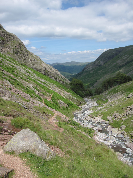 Styhead Gill above Taylorgill Force