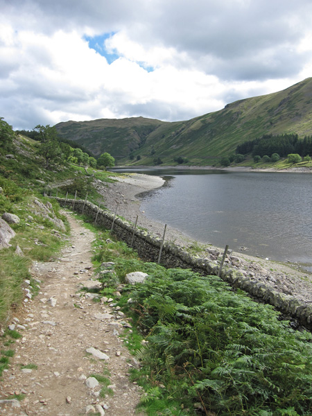 The lakeside path round to Riggindale