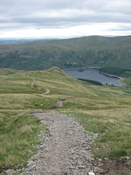 The path down to Kidsty Howes has been 'upgraded'