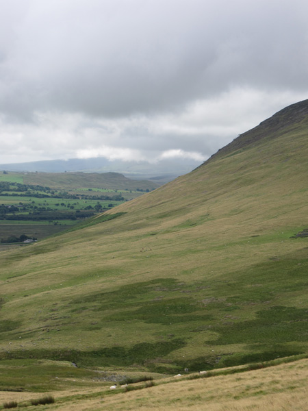 Looking across to the slopes of Carrock Fell