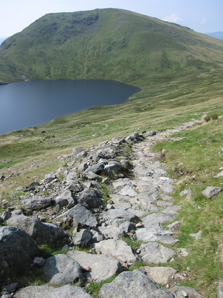 Seat Sandal and Grisedale Tarn from the Dollywagon zig-zags