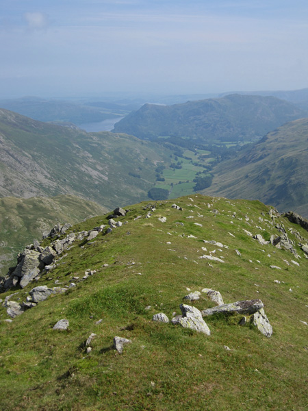 Grisedale and Place Fell from Dollywaggon Pike's summit