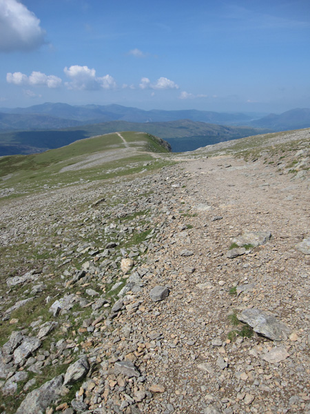 The path to the top of Browncove Crags